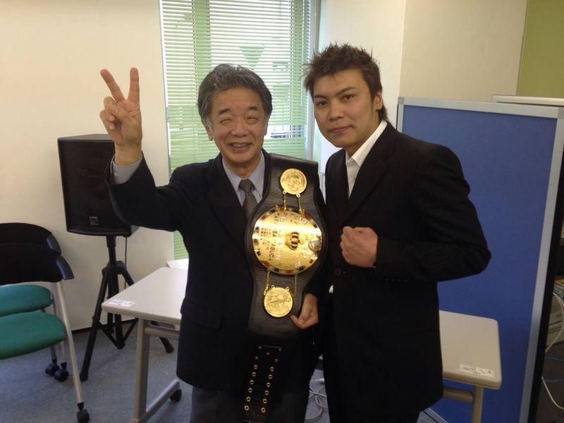 升田チャンピオンと